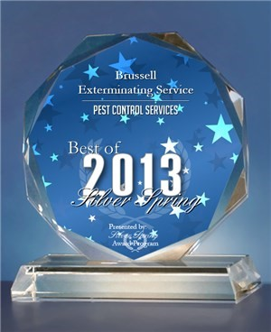 Best of 2013 Silver Spring Award for Pest Control Services