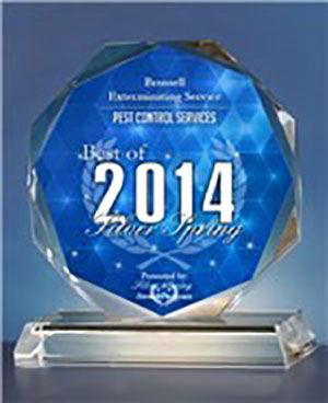 Best of 2014 Silver Spring Award for Pest Control Services